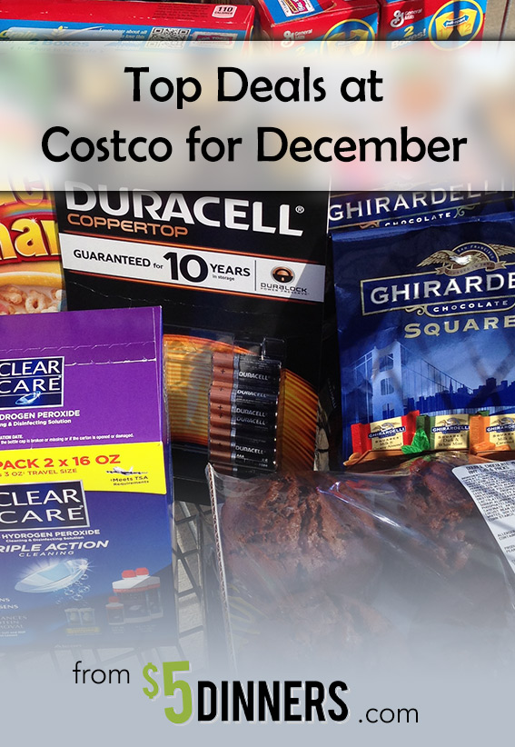 Costco Monthly Coupon Deals for December | 5DollarDinners.com