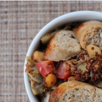 Chicken Apple Sausage with Chickpeas & Quinoa | 5DollarDinners.com
