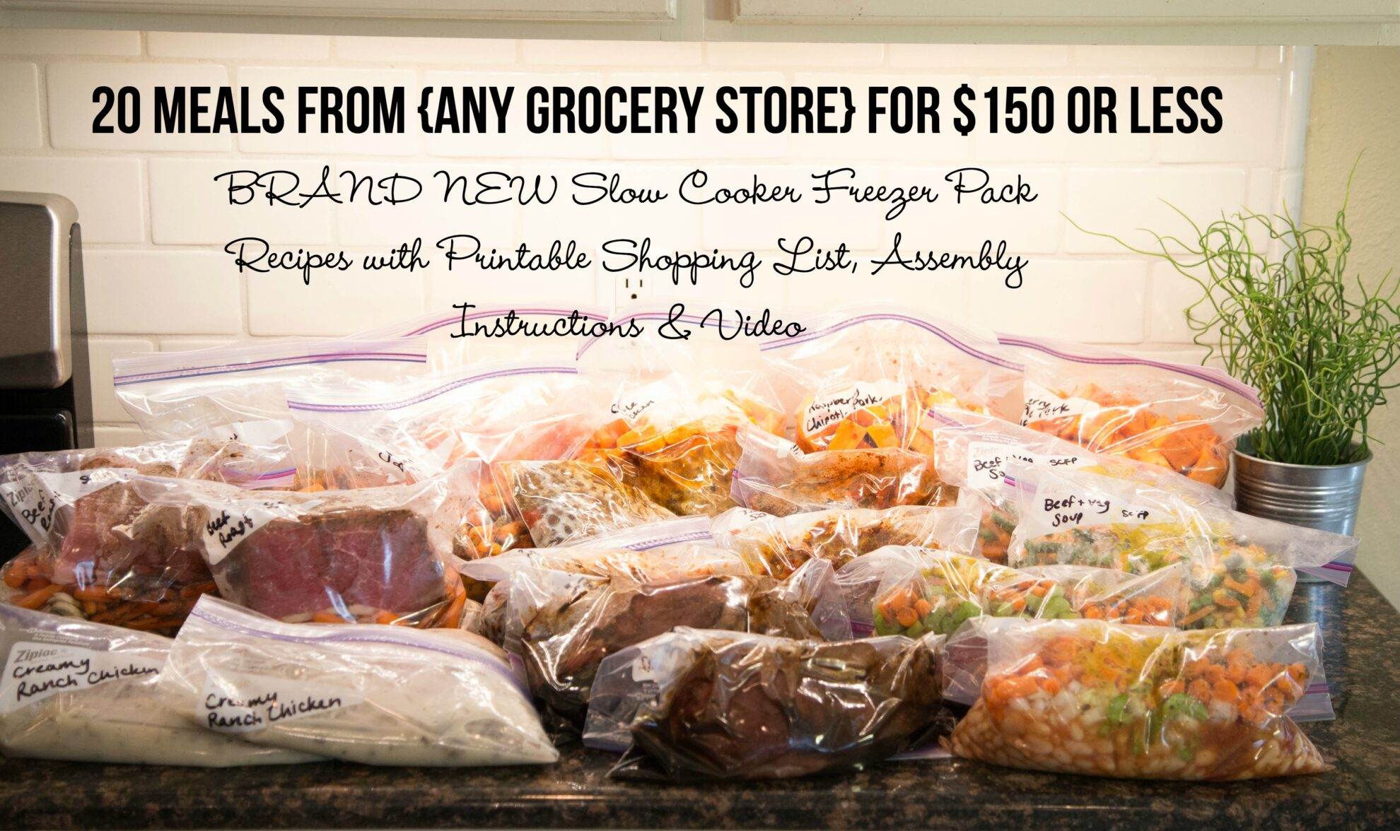 Any Grocery Store - 20 Meals for $150