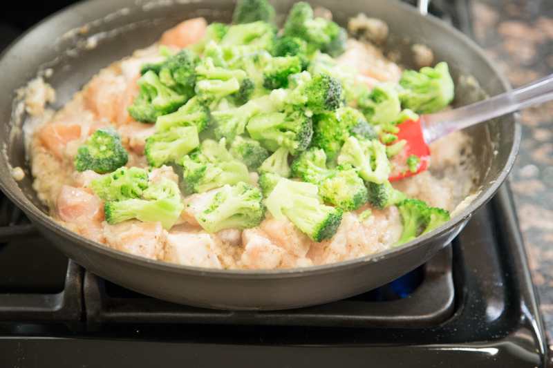 Cheesy Chicken, Broccoli & Rice Skillet Dinner-5