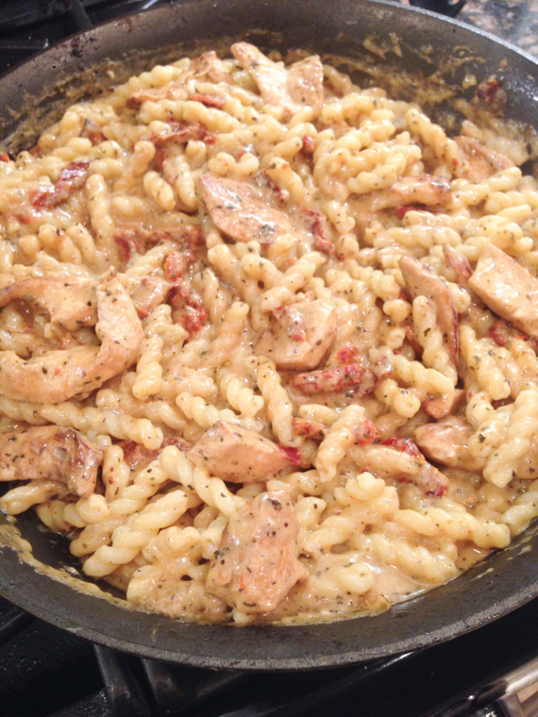 Creamy Chicken, Sundried Tomato & Pasta Skillet Dinner-2
