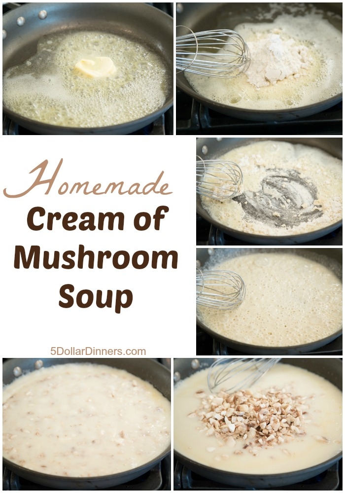 Homemade Cream of Mushroom Soup | 5DollarDinners.com
