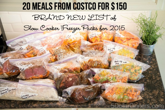 NEW Slow Cooker Freezer Pack - Costco Meal Plan #6