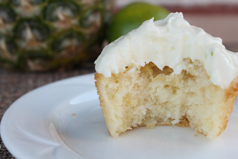 Pineapple Cupcakes with Ginger Lime Frosting Recipe | 5DollarDinners.com