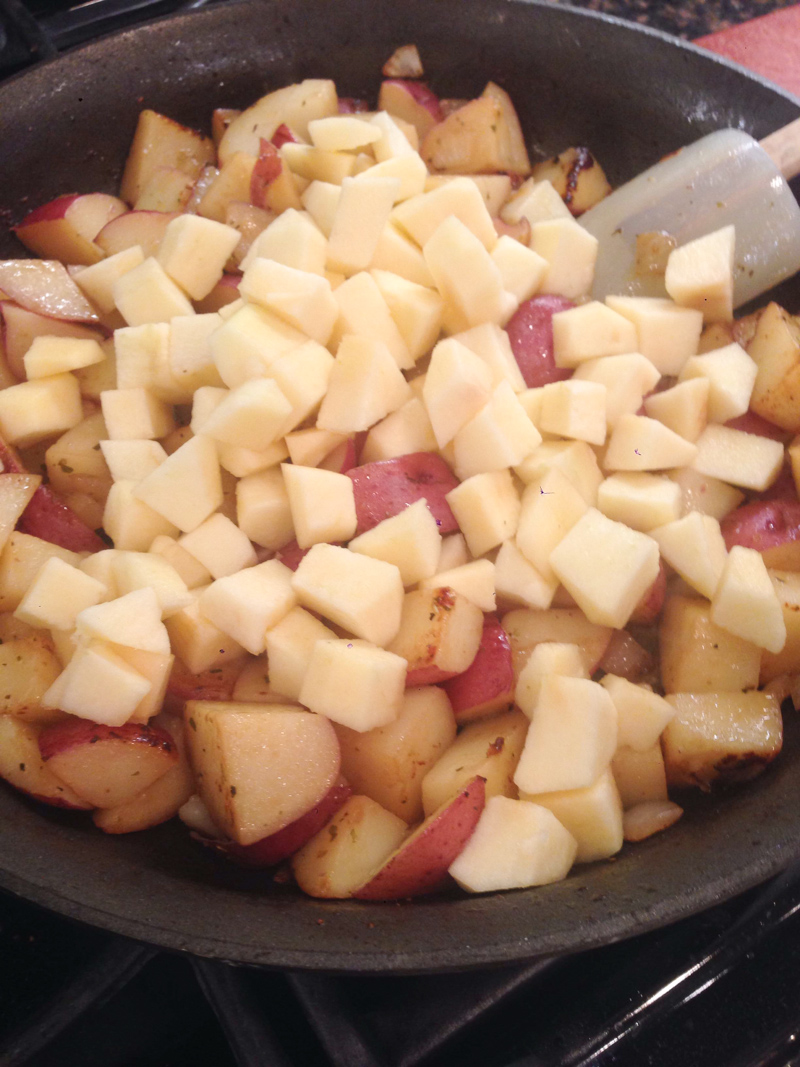 Pork Chop Red Potato Apple Skillet-7