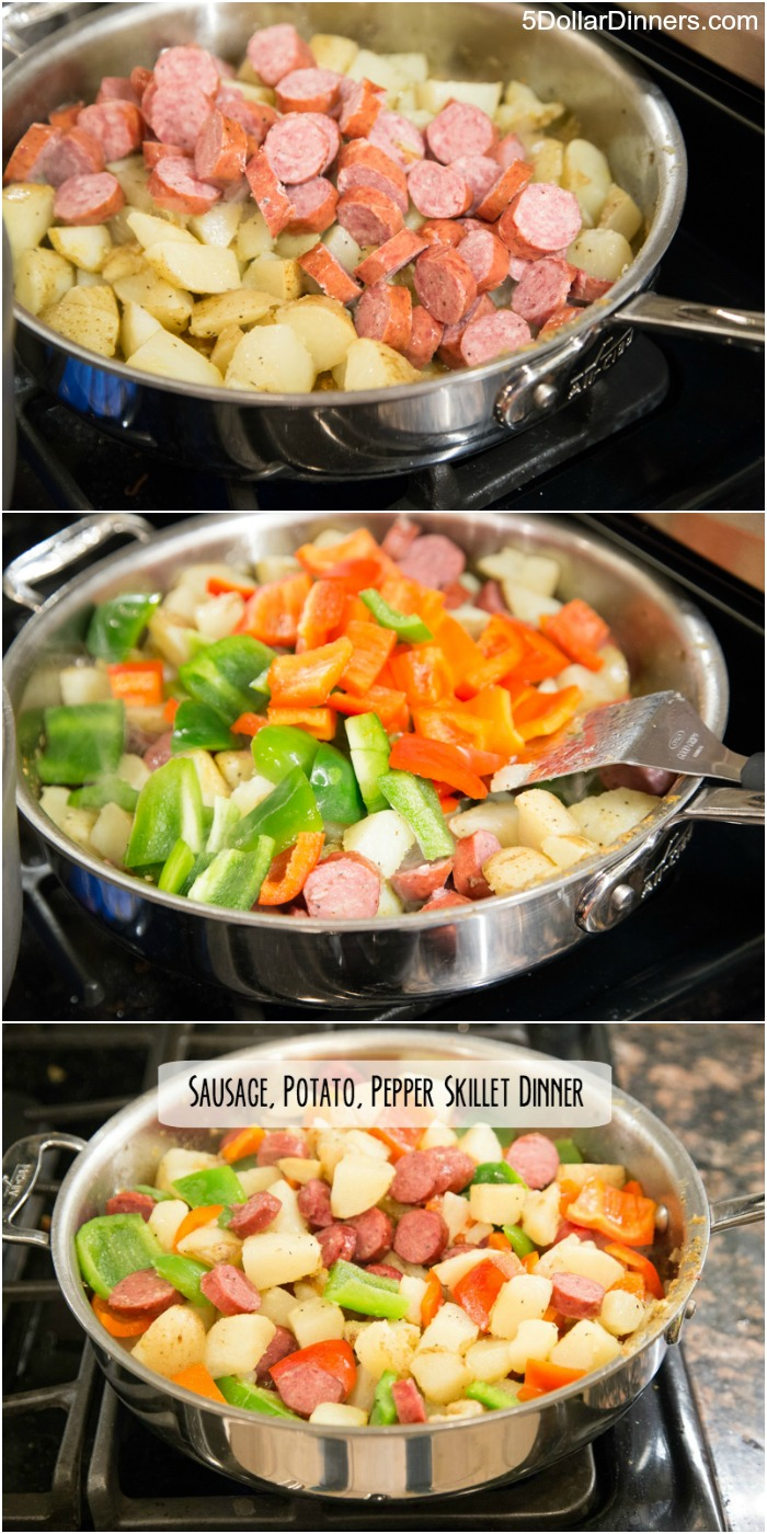 Sausage, Potato, and Pepper Skillet Dinner | 5DollarDinners.com