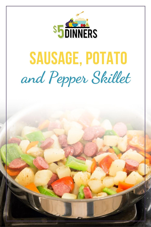sausage, potato, and pepper skillet
