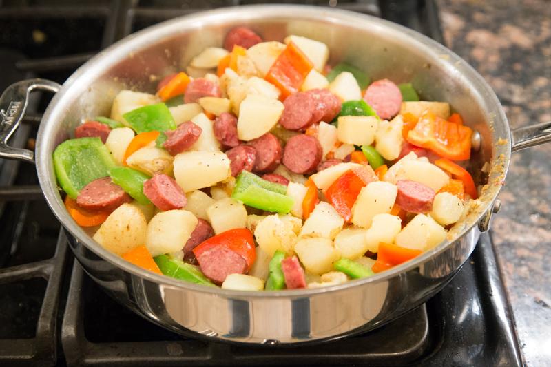 Sausage Potato Skillet Dinner-5