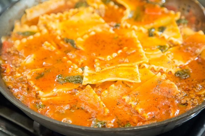 Spinach Lasagna Skillet_-11