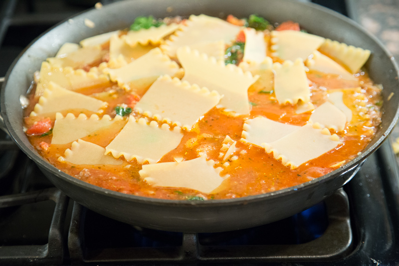 Spinach Lasagna Skillet_-8