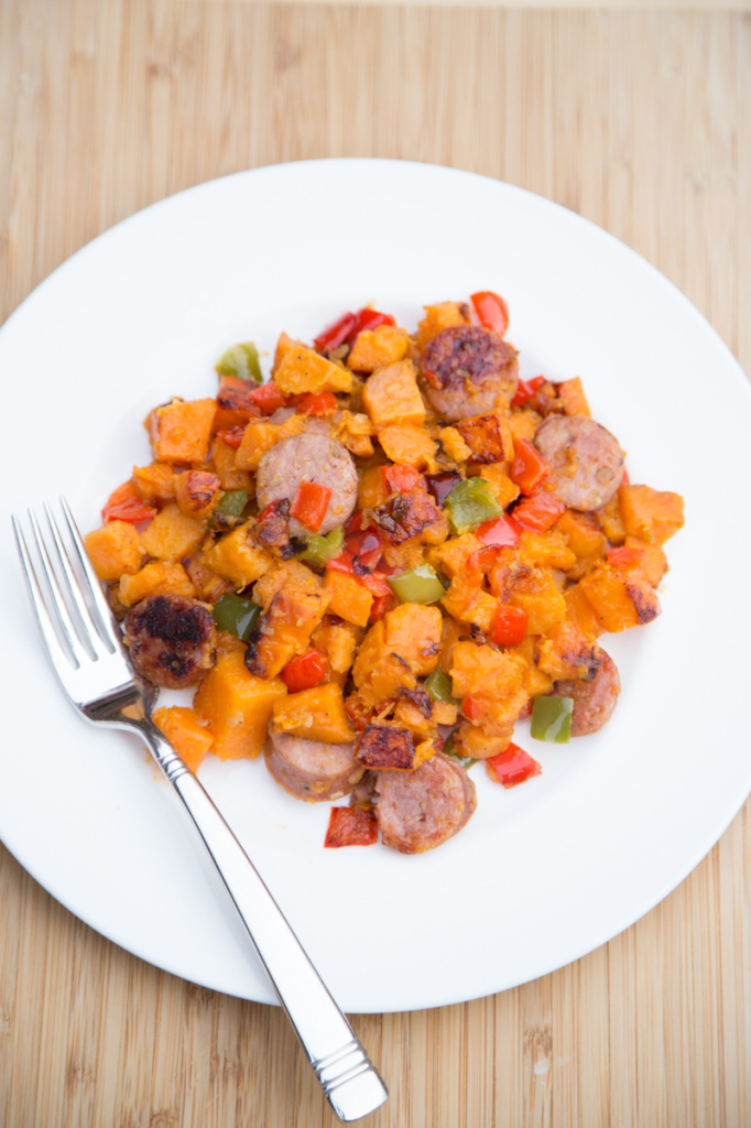 Sweet Potato Chicken Sausage Skillet Dinner