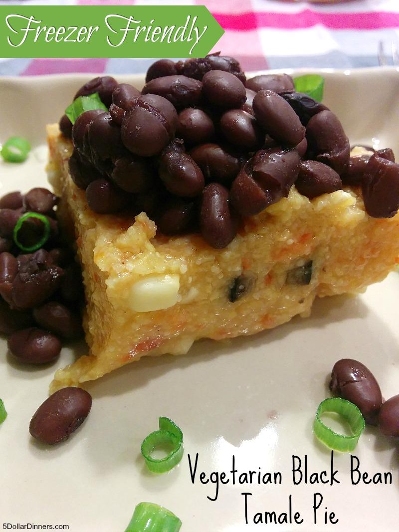 Vegetarian Black Bean Tamale Pie | 5DollarDinners.com