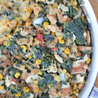 Chicken and Stuffing Skillet Dinner ~ part of our 31 Days of Skillet Dinner Recipes | 5DollarDinners.com