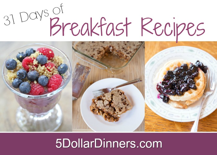 31 Days of Breakfast Recipes