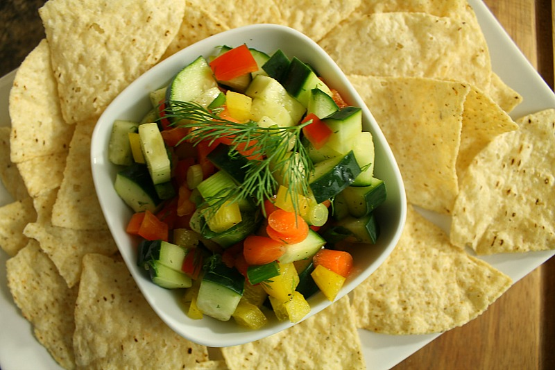 Chunky Cucumber Salsa | 5DollarDinners.com
