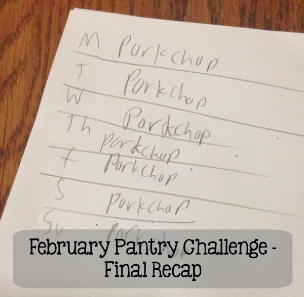February Pantry Challenge Final Recap