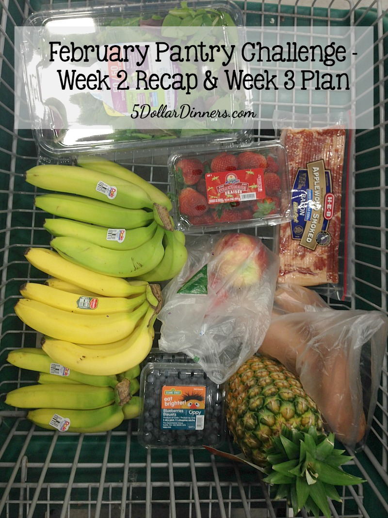February Pantry Challenge Week 2 Recap