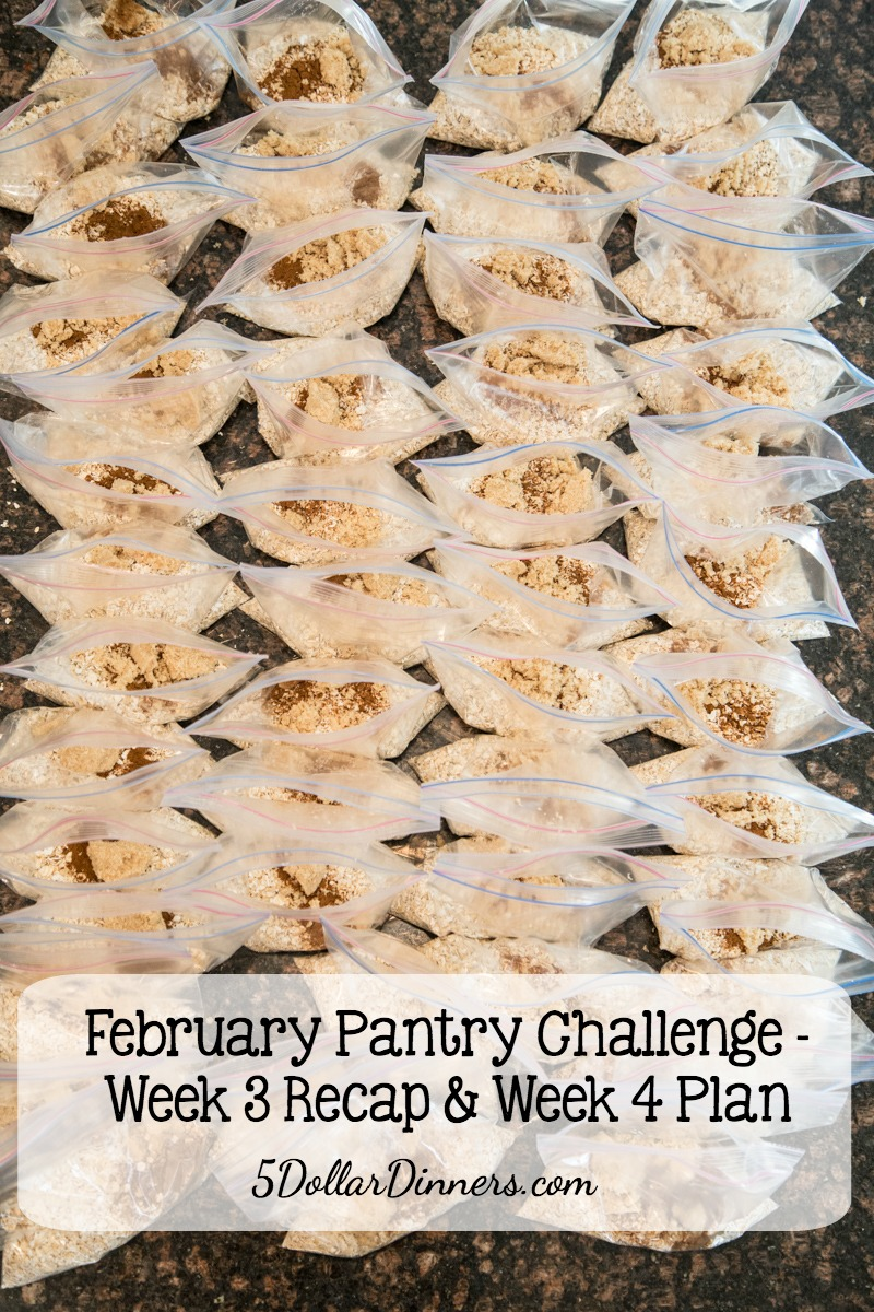 February Pantry Challenge Week 3 Recap
