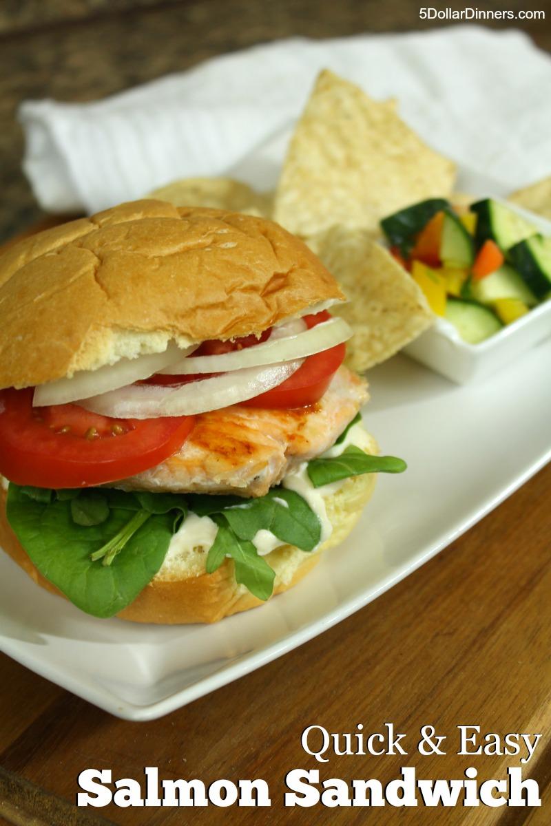 Simple Salmon Sandwich | 5DollarDinners.com