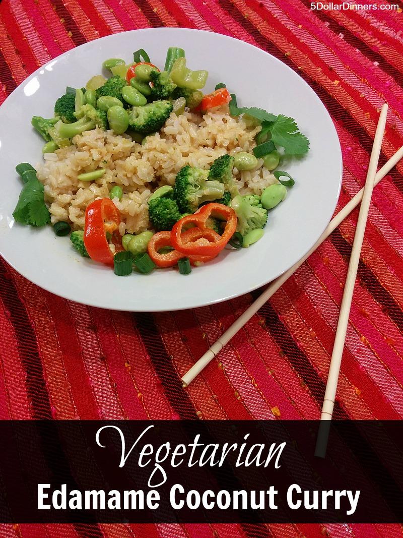 Vegetarian Edamame Coconut Curry | 5DollarDinners.com