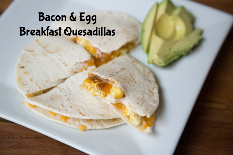 Breakfast Quesadillas Recipe | 5DollarDinners.com