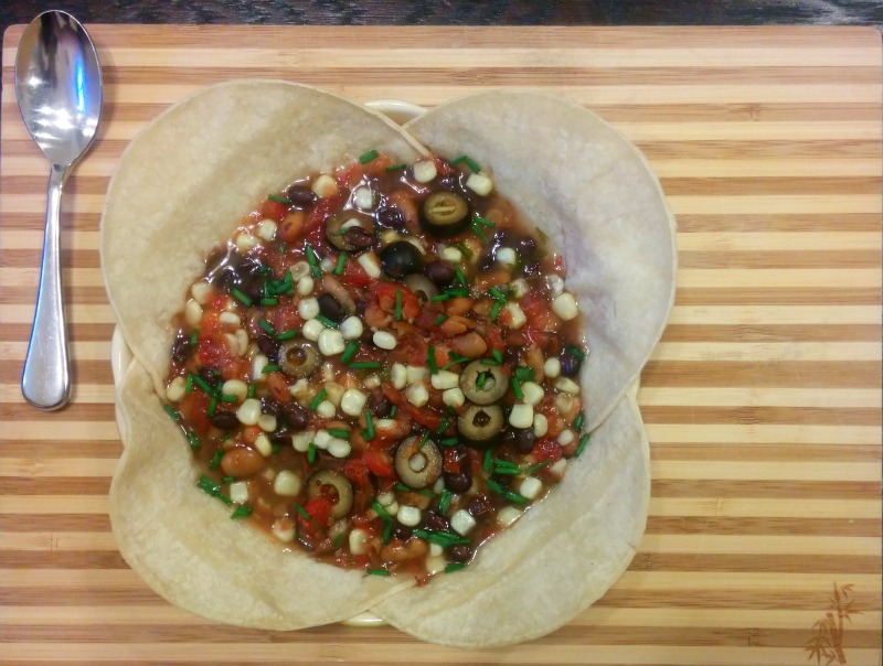 Vegetarian Bean & Corn with Salsa Soup