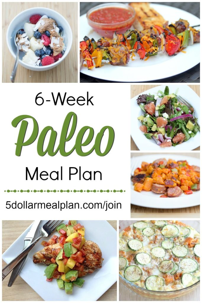 6 Week Paleo Meal Plan | 5DollarDinners.com