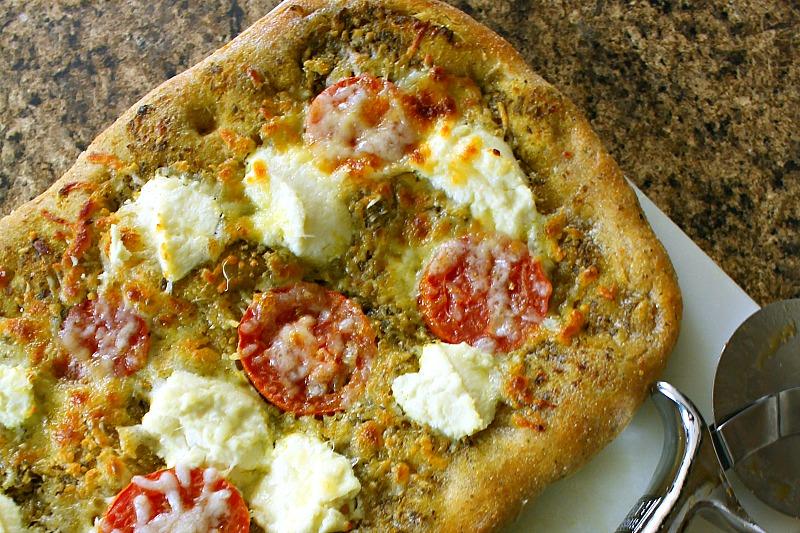 Pesto Ricotta Pizza Recipe