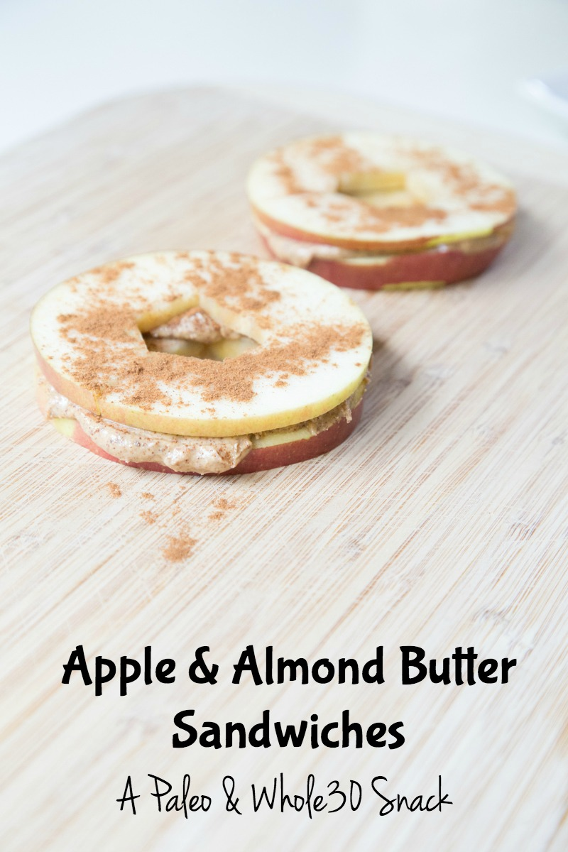Apple Almond Butter Sandwich Recipe | 5DollarDinners.com