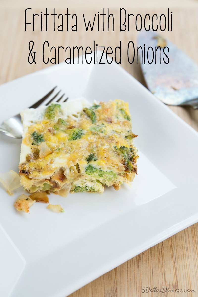 Broccoli Carmelized Onion Frittata Recipe | 5DollarDinners.com