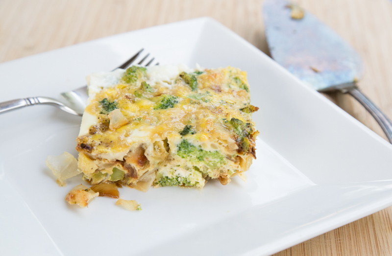 Broccoli Carmelized Onion Frittata