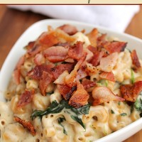 Homemade Mac and Cheese with Bacon and Spinach | 5DollarDinners.com