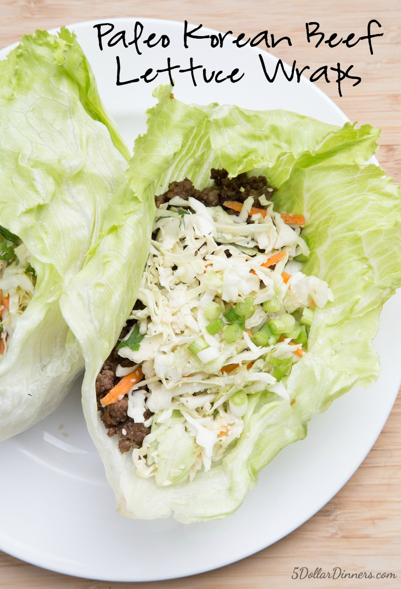Korean Beef Lettuce Wraps Recipe | 5DollarDinners.com