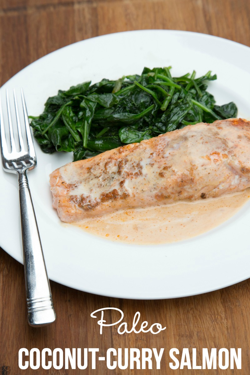 Paleo Coconut-Curry Salmon