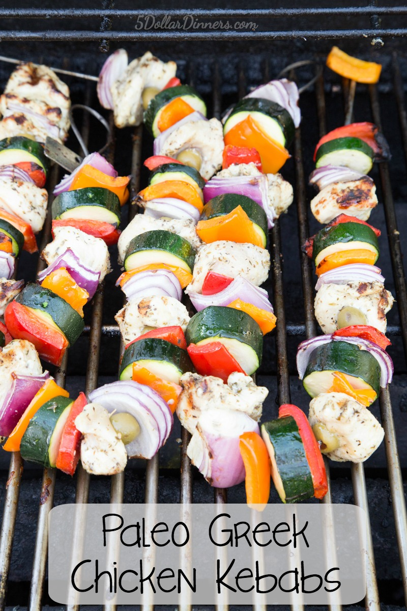 Paleo Greek Chicken Kebabs Recipe | 5DollarDinners.com