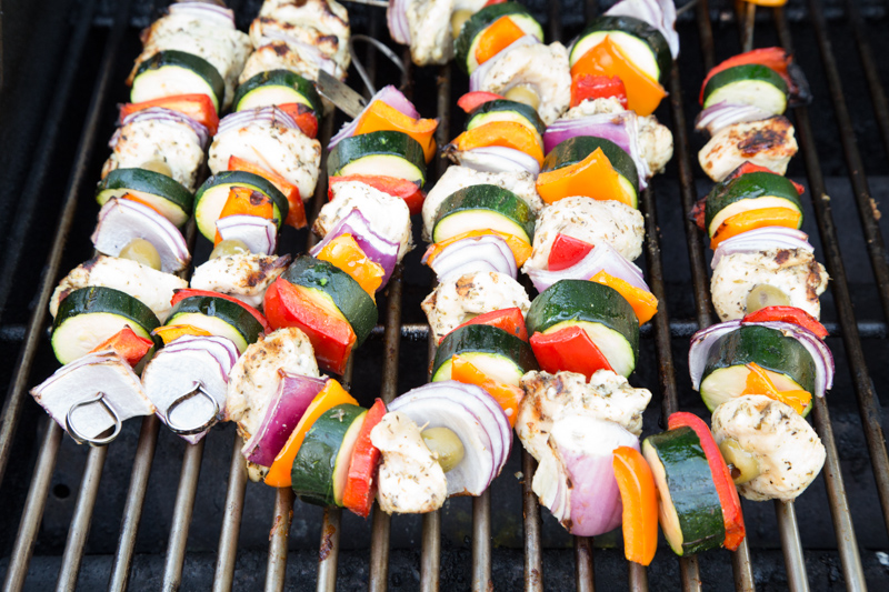Paleo Greek Chicken Kebabs