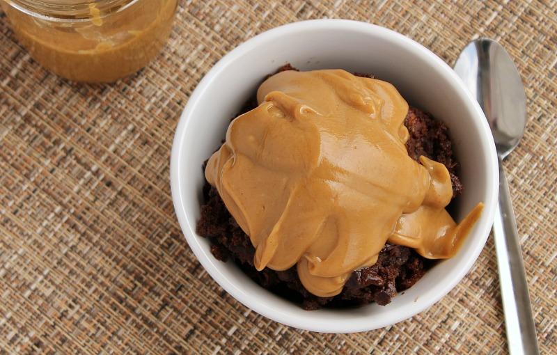 Slow Cooker Chocolate Cake with Peanut Butter Sauce from 5DollarDinners.com
