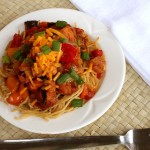 Barbecue Spaghetti with Smoked Chicken | 5DollarDinners.com
