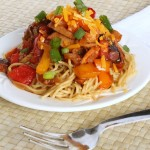 Barbecue Spaghetti with Smoked Chicken | 5DollarDinners.com