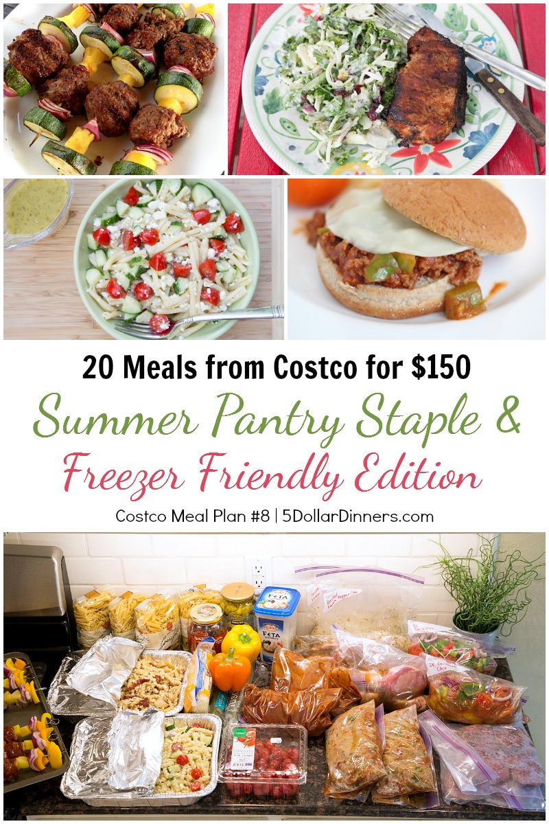 Costco Summer 8 Meal Plan from 5DollarDinners