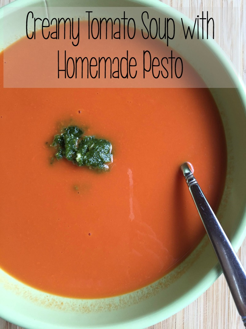 Creamy Tomato Soup with Pesto