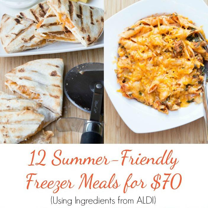 12 Summer Friendly Freezer Meals SQ