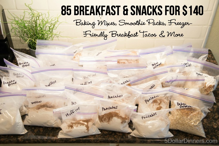 85 Breakfasts and Snacks for 150