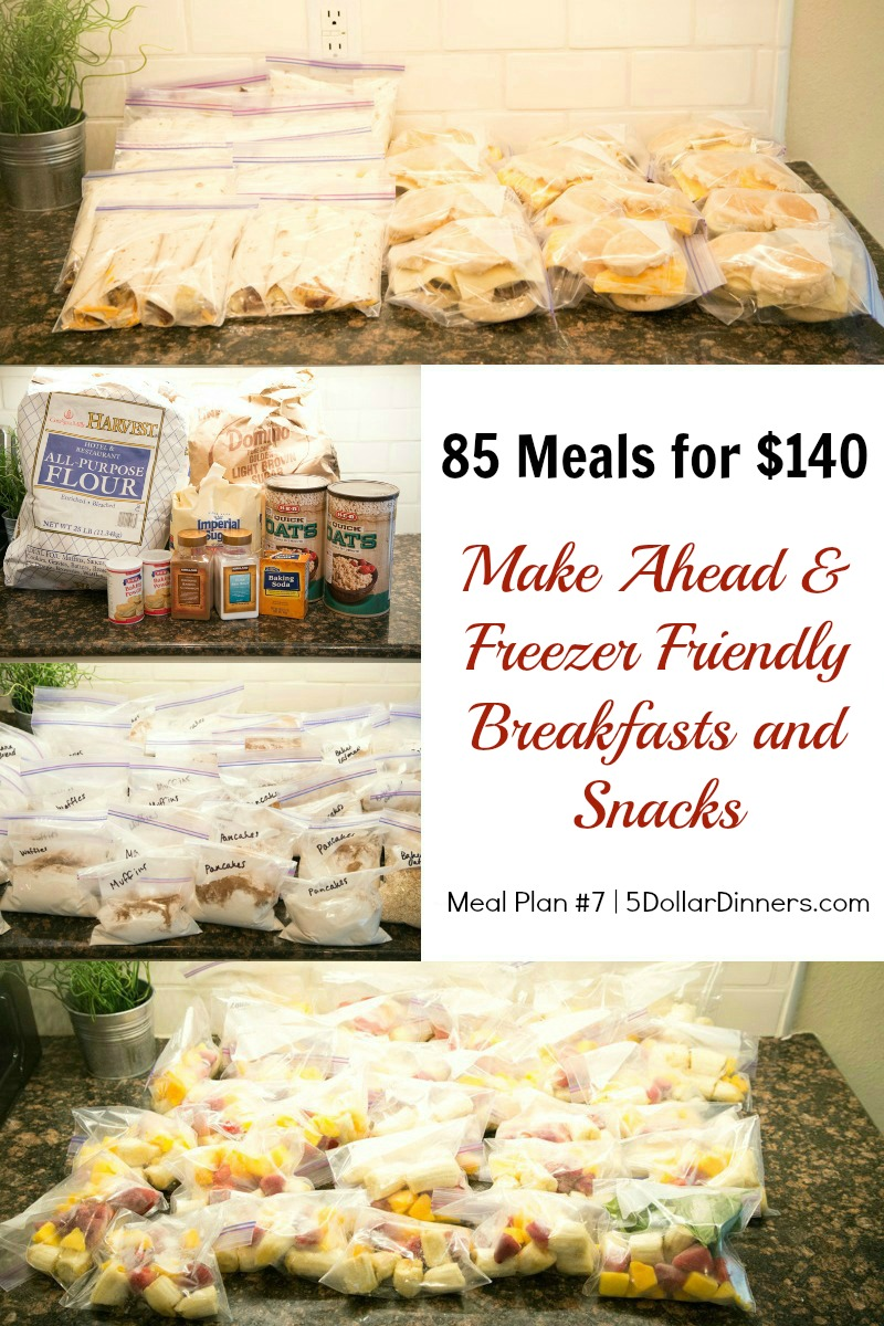 85 Meals for $140 Meal Plan #7 from 5DollarDinners.com