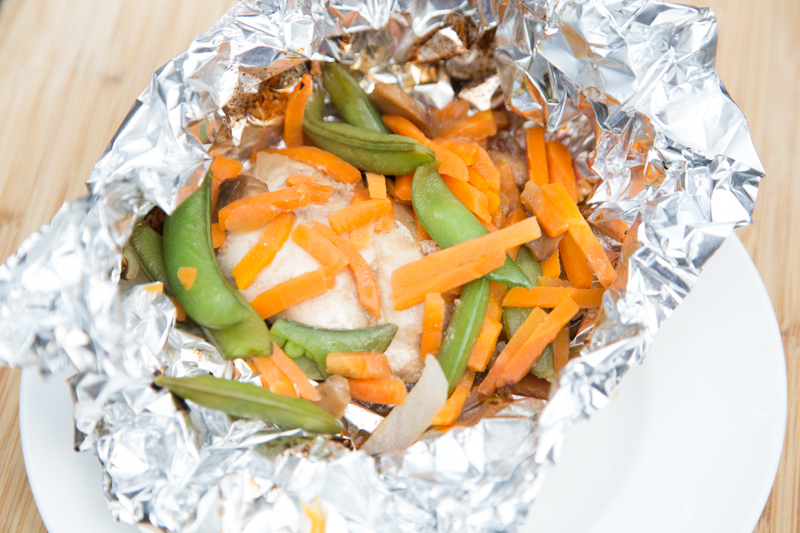 Asian Chicken & Vegetable Foil Grill Packs