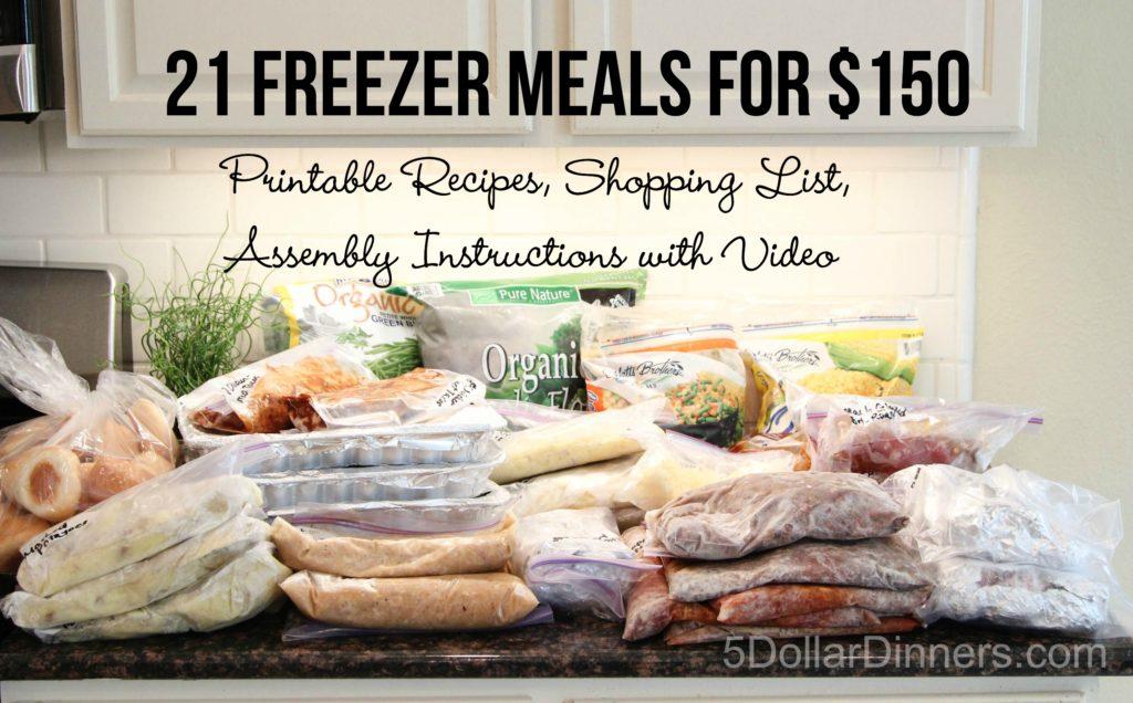 Freezer Meals Plan 5