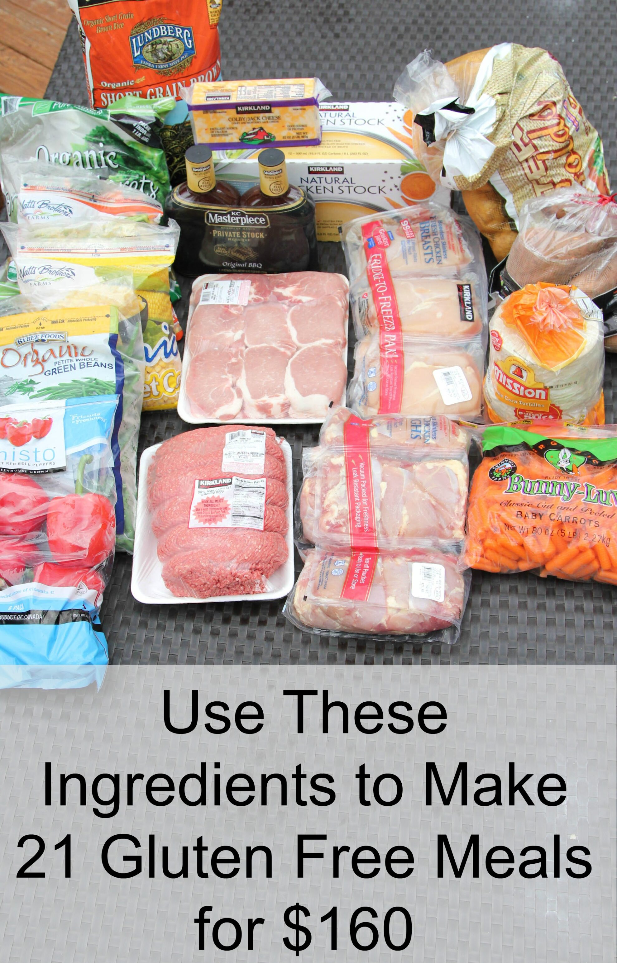 Gluten Free Plan Ingredients