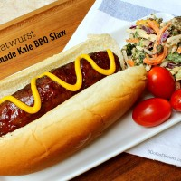 Grilled Bratwurst with Homemade Kale BBQ Slaw from 5DollarDinners.com