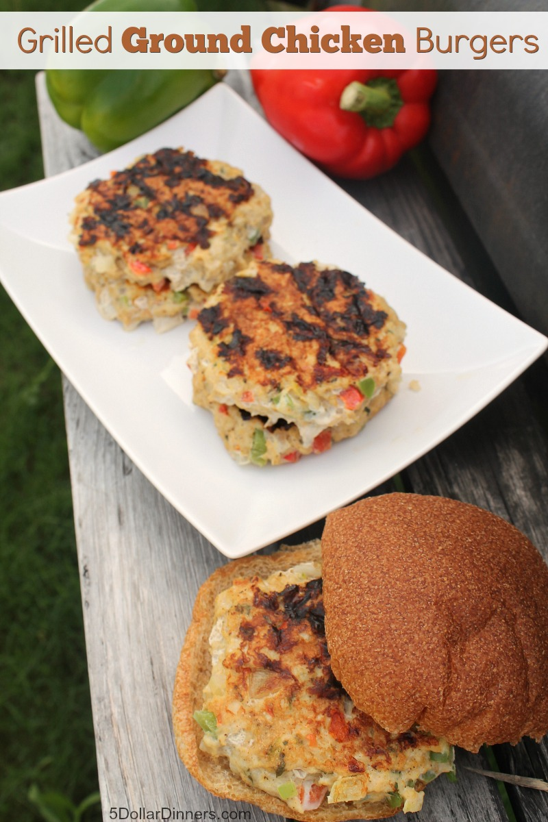 Grilled Ground Chicken Burgers