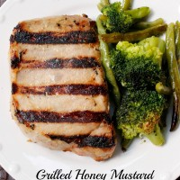 Grilled Honey Mustard Pork Chops from 5DollarDinners.com